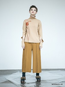 Double face Wide-leg Pants[CAMEL]