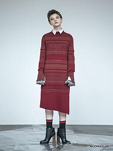 Slit Midi Dress[WINE]