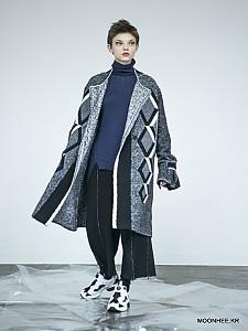 Diamond Jacquard Coat [BLACK]