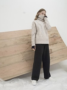 M7WT01A [Multi-Colored Ribbed Bulky Pullover] IVORY