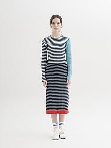 Multicolor Stripes Ribbed P/O