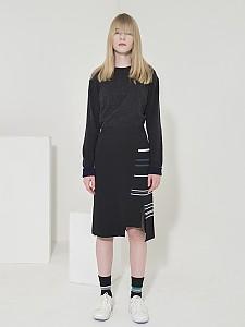 Milano Stripe Slit Skirt